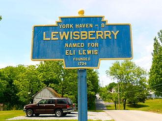 Lewisberry, Pennsylvania - Lewisberry's Keystone Marker