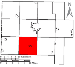 Location of Liberty Township in Van Wert County