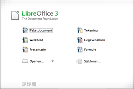 Startcentrum in LibreOffice