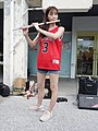 Lily Cao playing western concert flute 20200704a.jpg