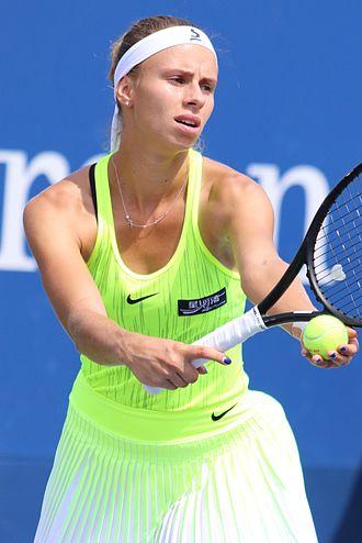 Magda Linette - Magda Linette at the 2016 US Open.