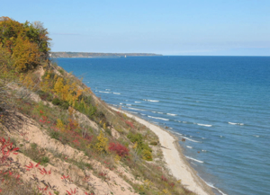 Ozaukee County, Wisconsin - Lake Michigan shoreline, near Port Washington