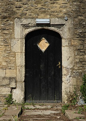 Littlemore - East door of the dormitory range of the former priory, now Minchery Farmhouse