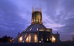 Liverpool Metropolitan Cathedral at dusk new version