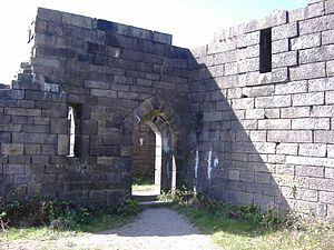 Liverpool Castle - Scale replica of Liverpool Castle as seen at Rivington
