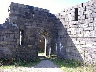 Liverpool Castle - Scale replica of Liverpool Castle as seen at Rivington