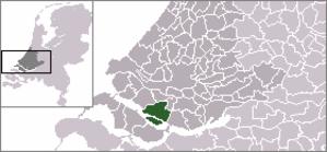 Nieuw-Beijerland - Image: Locatie Korendijk