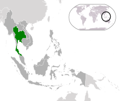 Location of  Thailand  (green)in ASEAN  (dark grey)  —  [Legend]