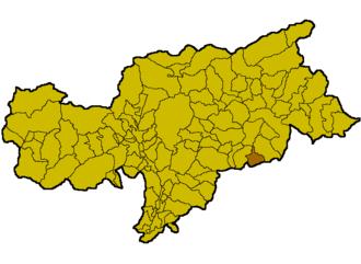 Corvara, South Tyrol - Location in South Tyrol
