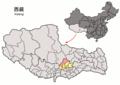 Location of Damxung within Xizang (China).png