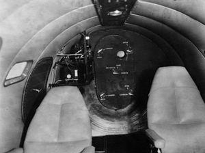 Lockheed XC-35 - A view of the aft pressure bulkhead.