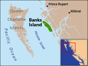 Banks Island (British Columbia) - Banks Island is located on the east side of Hecate Strait