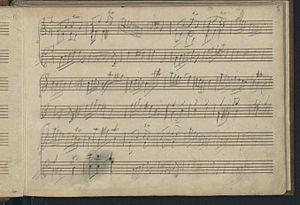 London Sketchbook (Mozart) - Third page