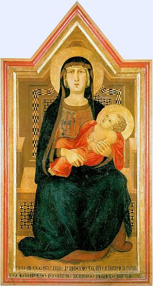 Ambrogio Lorenzetti - Madonna and Child, 1319