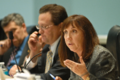 Lori Berman questions a presenter before the Community & Military Affairs Subcommittee.png