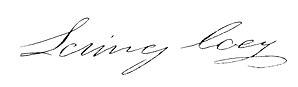 Loring Coes - Image: Loring Coes signature