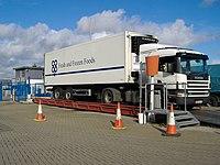 Lorry on weighbridge, Douglas, Isle of Man - geograph.org.uk - 352285.jpg