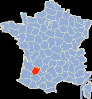 Communes of the Lot-et-Garonne department - Image: Lot et Garonne Position