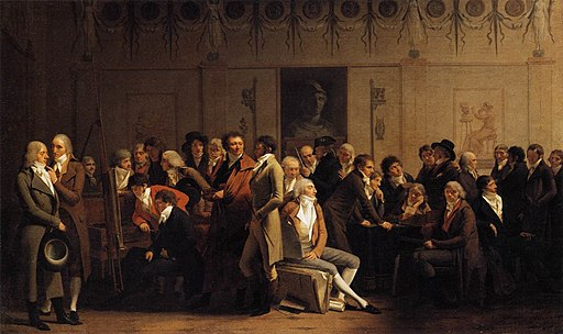 Louis-Léopold Boilly - Meeting of Artists in Isabey's Studio - WGA02347