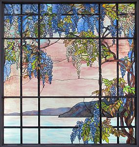 Tiffany Window In His House At Oyster Bay New York
