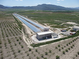 English: Solar power plant PE 1 based on linea...