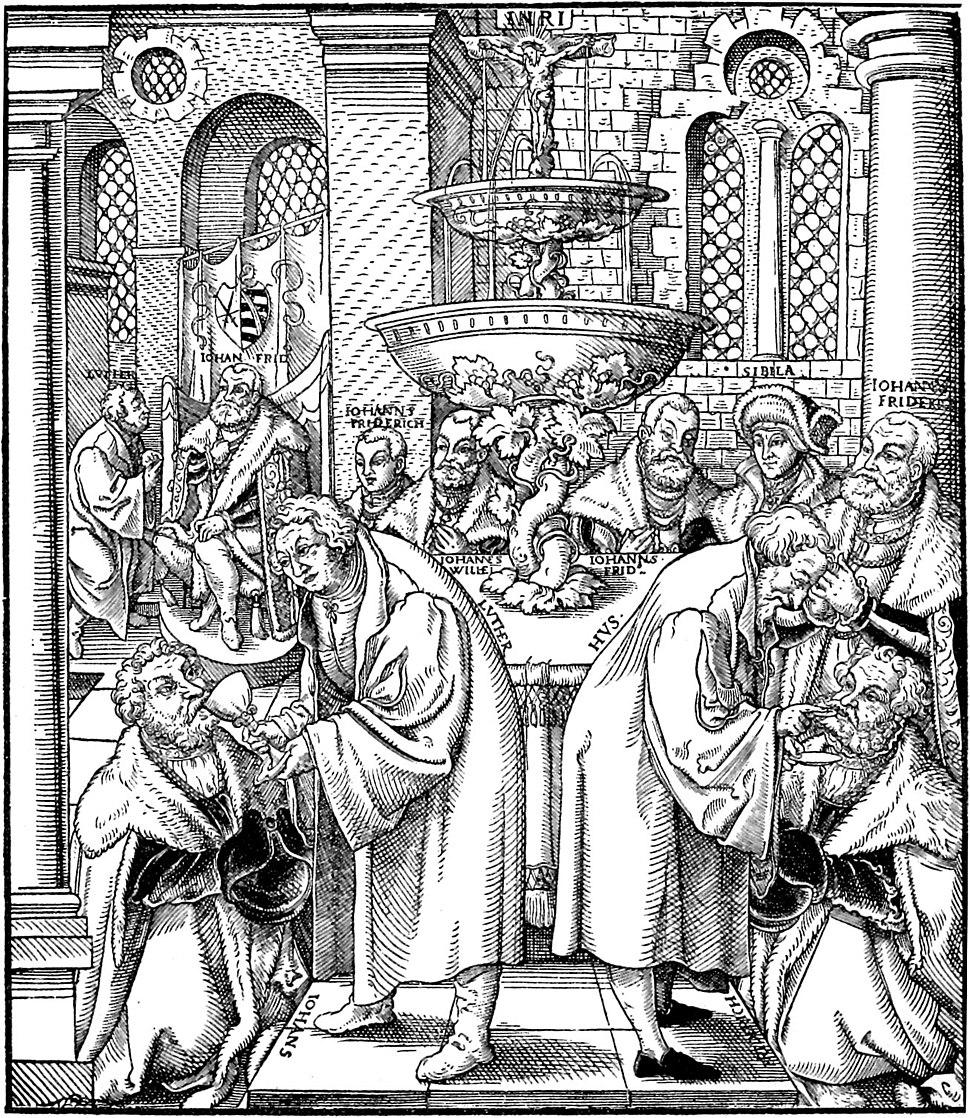 Luther und Hus-Abendmahl