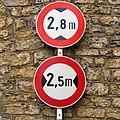 Luxembourg road signs C,6 & C,5 Lenningen.jpg