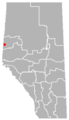 Lymburn, Alberta Location.png