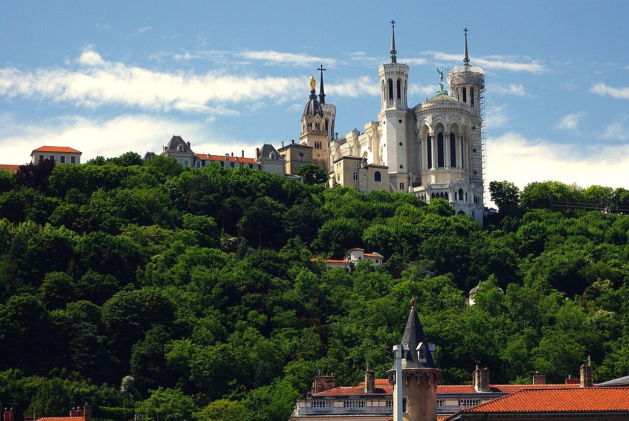 Vue de la colline de Fourvière.