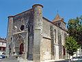 Mézin - Eglise Saint-Jean-Baptiste - Façade occidentale.JPG