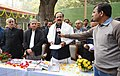 M. Venkaiah Naidu addressing after inaugurating the improvement works at the Samadhi of Mahatma Gandhi, at Rajghat, in Delhi.jpg