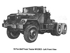 M123 and M125 10-ton 6x6 trucks - Image: M123 AND m 125.2 2)