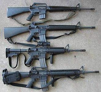 M16 rifle - Image: M16a 1m 16a 2m 4m 16a 45wi