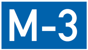 European route E119 - Image: M3 AZ