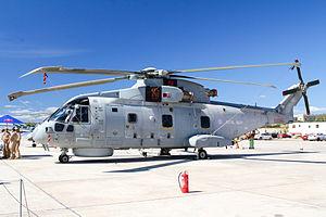 814 Naval Air Squadron - 814 Squadron Merlin HM.2 at the 2015 Malta International Airshow