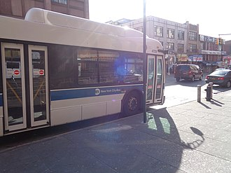 The Hub, Bronx - An unwrapped Bx41 Select Bus Service terminating at Melrose Avenue and 150th Street
