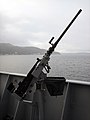Machine gun mounted on KNM Otto Sverdrup.jpg
