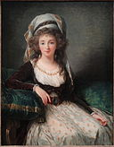 Madame d'Aguesseau de Fresnes by Elisabeth Louise Vigée Le Brun, 1789, oil on wood - National Gallery of Art, Washington - DSC09999.JPG