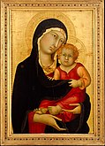 14th-century gold-ground Madonna and Child