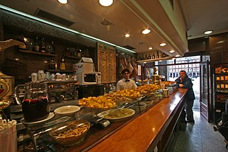 Tapas - Tapas bar and restaurant at Plaza Mayor, Madrid