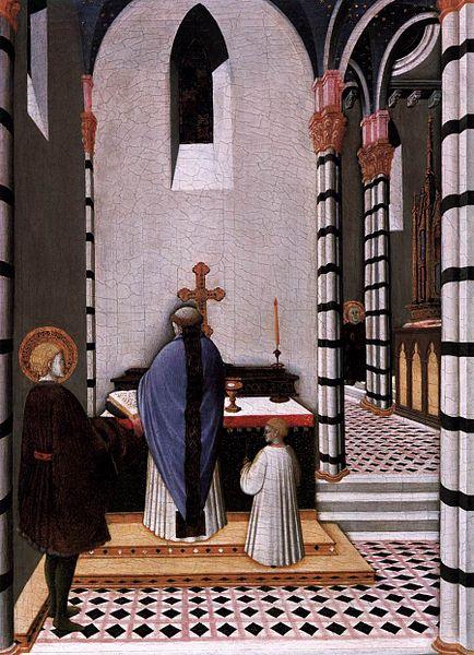 File:Maestro dell'osservanza, sant'antonio a messa dedica la sua vita a dio.jpg