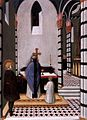 Maestro dell'osservanza, sant'antonio a messa dedica la sua vita a dio.jpg