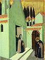 Maestro dell'osservanza, sant'antonio abbandona il suo monastero.jpg