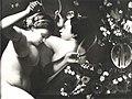 Maestro della natura morta di Hartford - Saraceni - Natura morta con fiori, vaso, farfalle e figure femminili, Collezione F. Micheli.jpg