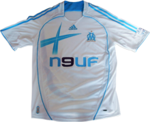 d1d8a8e4 The home shirt of Olympique de Marseille for the 2006–07 season
