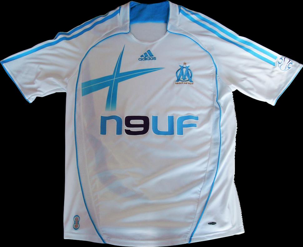 Maillot domicile OM Olympique de Marseille 2006-2007