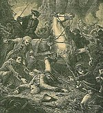 Major-General Braddocks death at the Battle of Monongahela