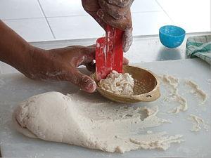 Pempek - Pempek dough is the base of various shaped pempeks.