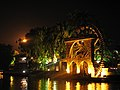 Malaysia - Malaka - 17 - waterwheel lit up along the riverfront (6320308879).jpg