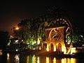 Malaysia - Malaka - 17 - waterwheel lit up along the riverfront (6320308879).jpg